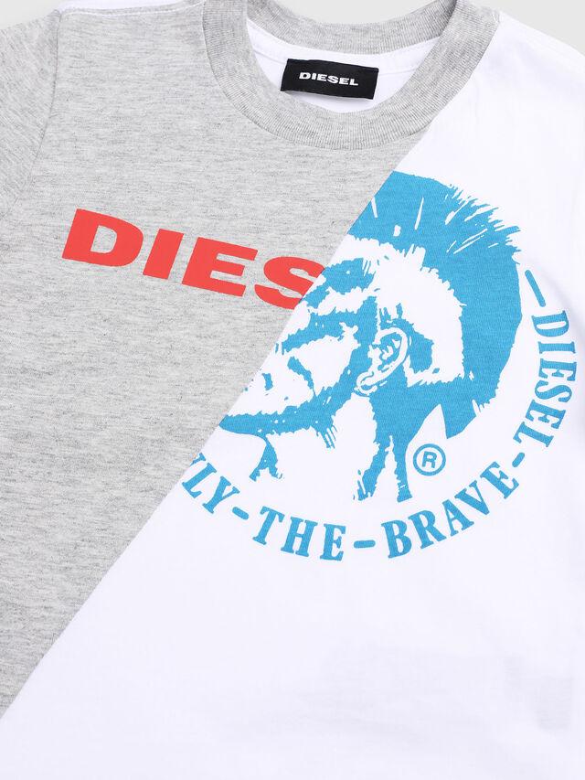 Diesel - TICAB-R, Bianco/Grigio - T-shirts e Tops - Image 3