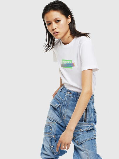 Diesel - T-SILY-S2, Bianco - T-Shirts - Image 5