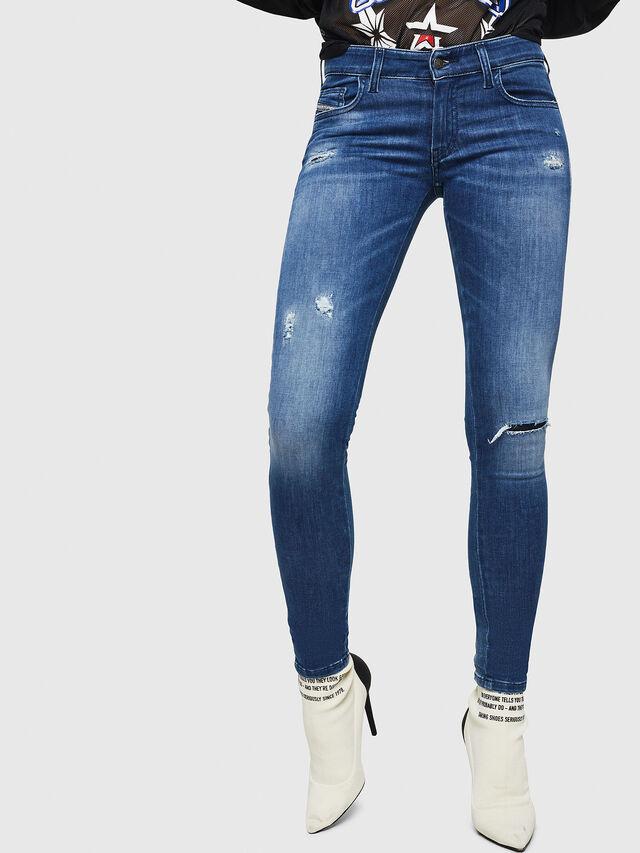 Diesel - Slandy Low 089AI, Blu medio - Jeans - Image 1