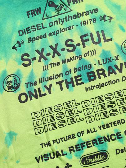 Diesel - TJUSTSLITSX86 OVER, Verde Fluo - T-shirts e Tops - Image 3