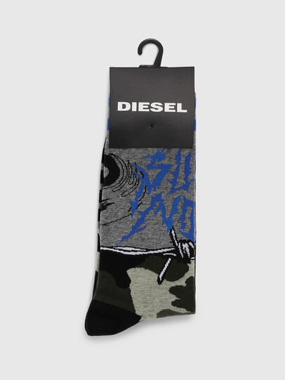 Diesel - SKM-RAY, Grigio - Calzini - Image 2