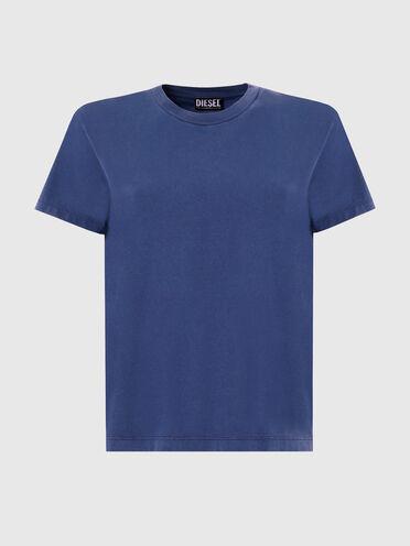 T-shirt con stampa lucida sulla schiena
