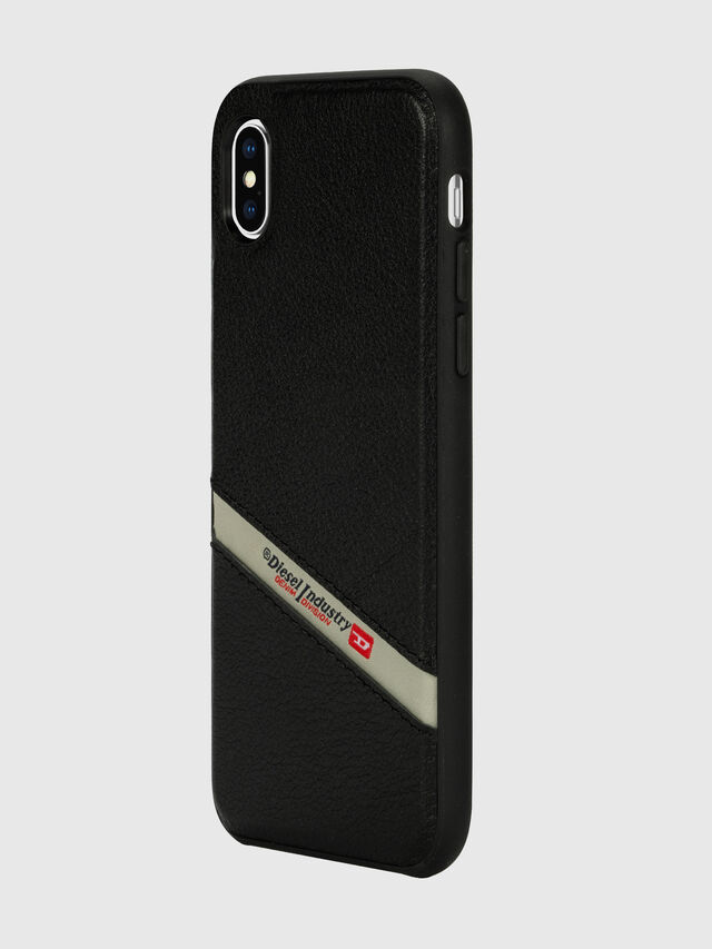 Diesel - DIESEL LEATHER CO-MOLD CASE FOR IPHONE XS MAX, Nero - Cover - Image 5