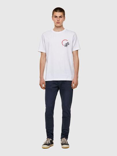 Diesel - T-JUST-B55, Bianco - T-Shirts - Image 4
