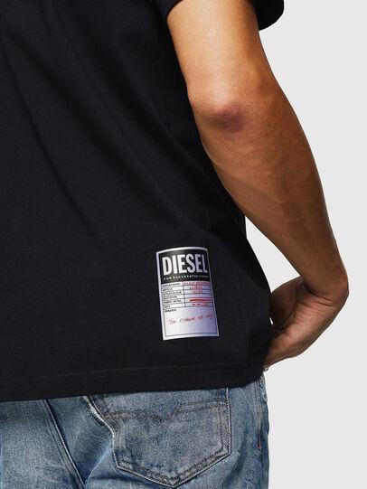 Diesel - T-JUST-B26, Nero - T-Shirts - Image 3