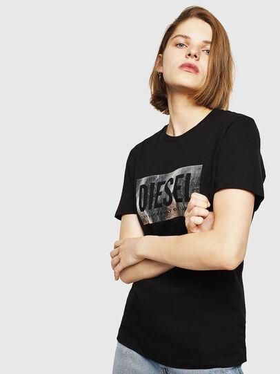 Diesel - T-FOIL, Nero - T-Shirts - Image 1
