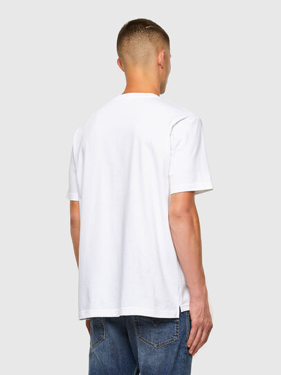 Diesel - T-JUST-SLITS-X85, Bianco - T-Shirts - Image 6