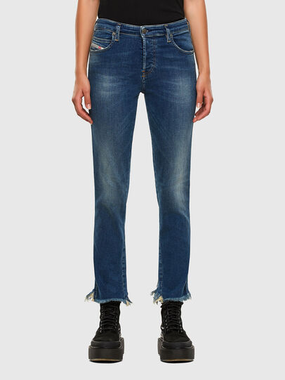 Diesel - Babhila-Zip 009EZ, Blu medio - Jeans - Image 1