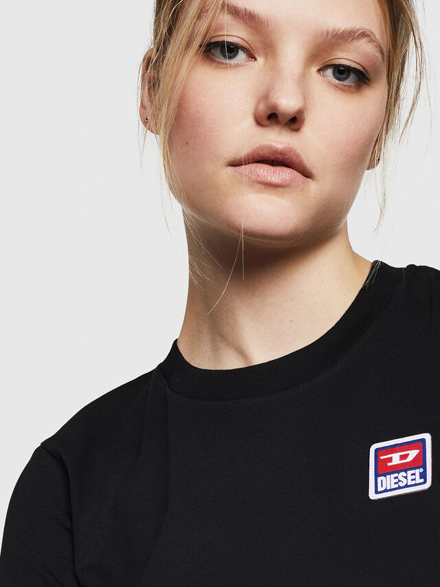 Diesel - T-SILY-ZE, Nero - T-Shirts - Image 3