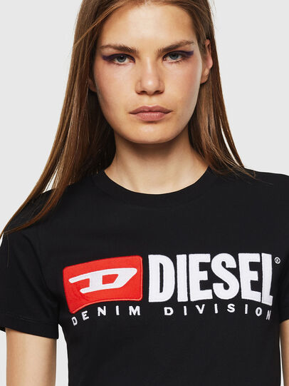 Diesel - T-SILY-DIVISION, Nero - T-Shirts - Image 3