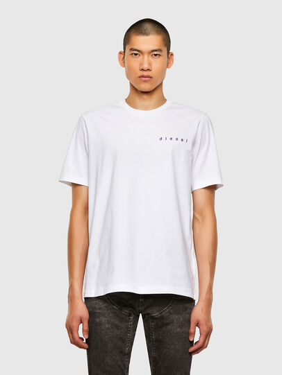 Diesel - T-JUST-N44, Bianco - T-Shirts - Image 1