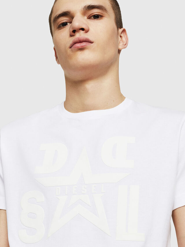 Diesel - T-DIEGO-A8, Bianco - T-Shirts - Image 4