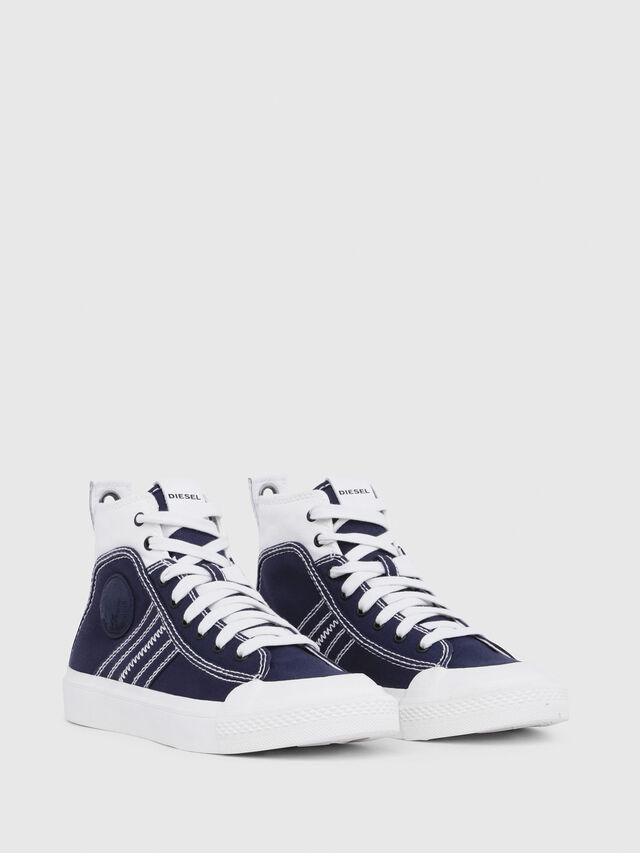 Diesel - S-ASTICO MID LACE W, Blu/Bianco - Sneakers - Image 2