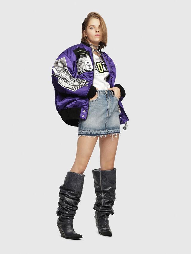Diesel - DE-FREESIA, Blu Jeans - Gonne - Image 4