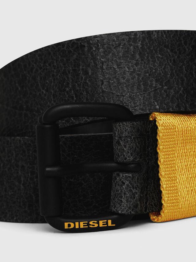 Diesel - B-VIDOR, Nero/Giallo - Cinture - Image 2