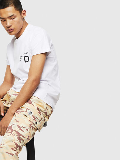 Diesel - T-HOVER, Bianco - T-Shirts - Image 4