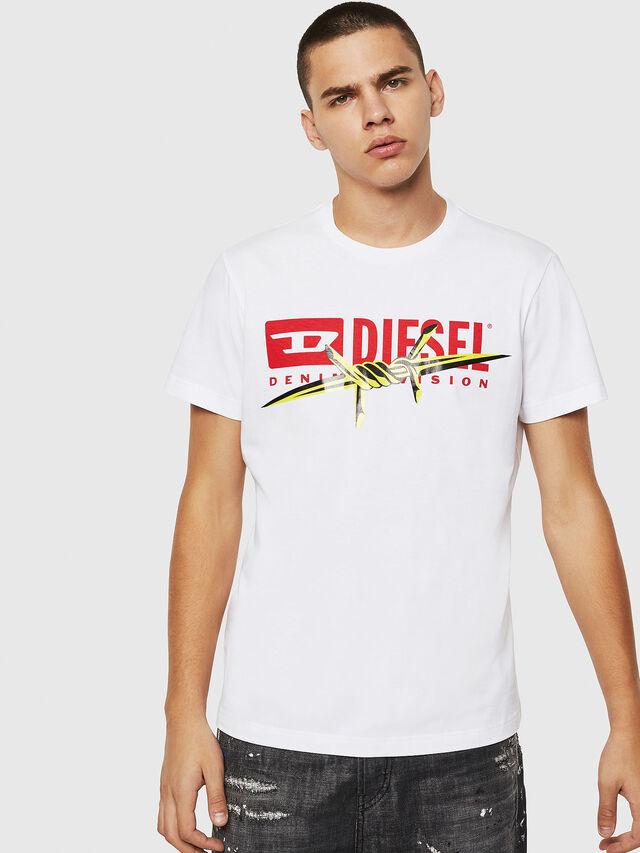 Diesel - T-DIEGO-BX2, Bianco - T-Shirts - Image 1