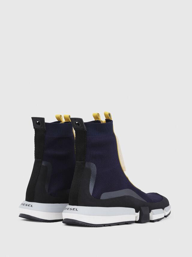 Diesel - H-PADOLA MID ZIP, Blu/Giallo - Sneakers - Image 3