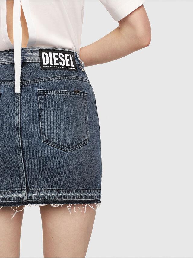 Diesel - DE-ELLE-M, Blu medio - Gonne - Image 4