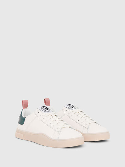 Diesel - S-CLEVER LOW LACE W, Bianco/Verde - Sneakers - Image 2