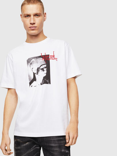 Diesel - T-JUST-J21, Bianco - T-Shirts - Image 1