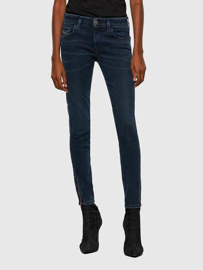Diesel - Slandy Low 009QF, Blu Scuro - Jeans - Image 1