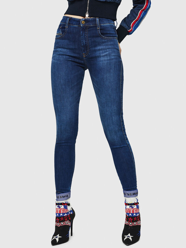 Diesel - Slandy High 089AJ, Blu Scuro - Jeans - Image 1