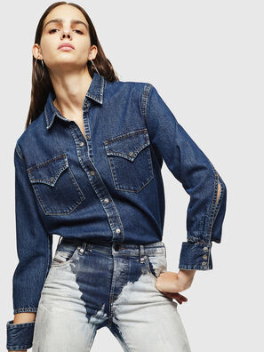DE-COLLY, Blu medio - Camicie in Denim