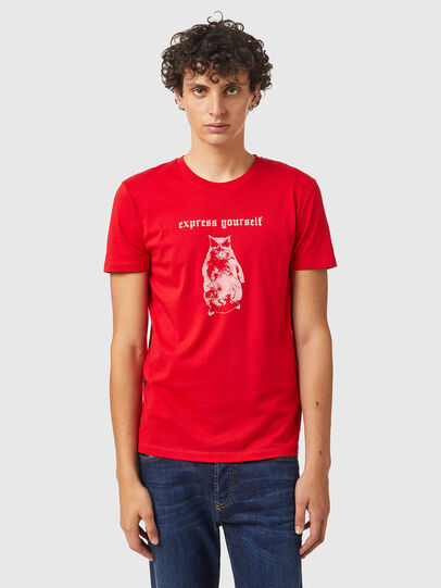 Diesel - T-INY-B2, Rosso - T-Shirts - Image 1