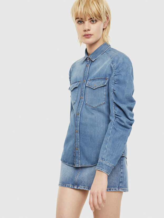 DE-RINGY-R, Blu Chiaro - Camicie in Denim