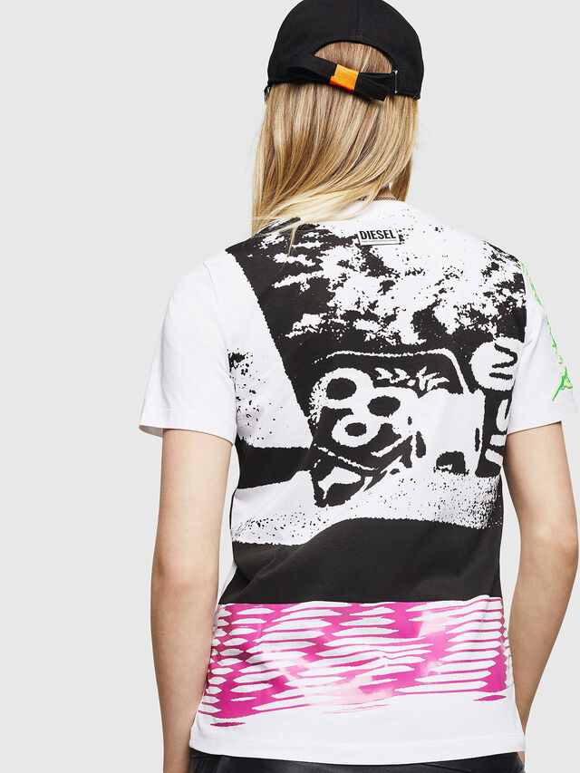 Diesel - T-SILY-WU, Bianco - T-Shirts - Image 2
