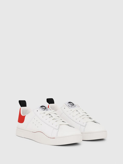 Diesel - S-CLEVER LOW, Bianco/Rosso - Sneakers - Image 2