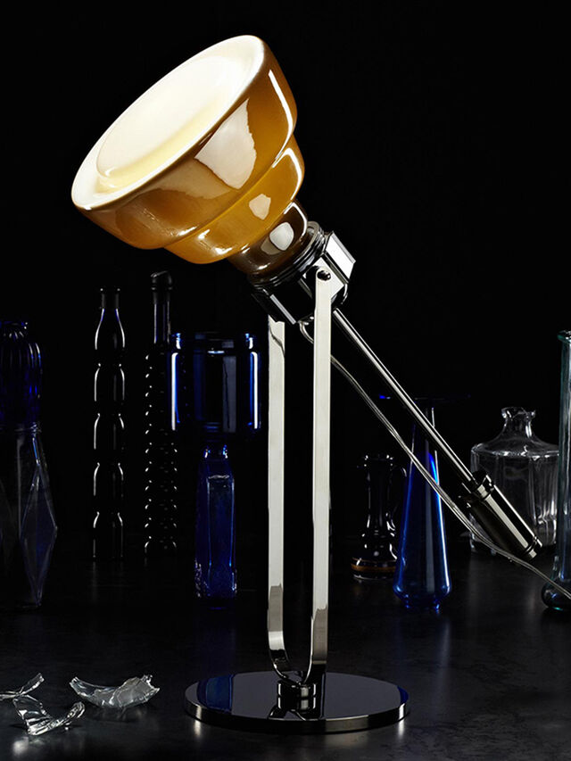 Living GLAS TAVOLO CROMO, Argento - Lampade da Tavolo - Image 2