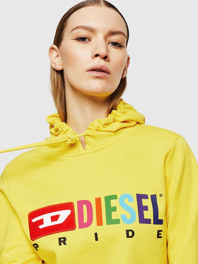 Diesel - UFLT-BRANDALWZ, Giallo - Felpe - Image 3