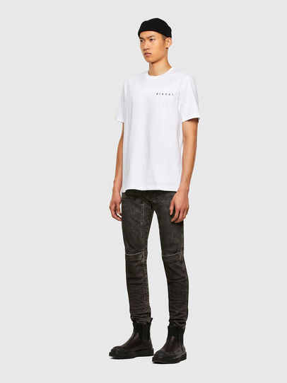 Diesel - T-JUST-N44, Bianco - T-Shirts - Image 5