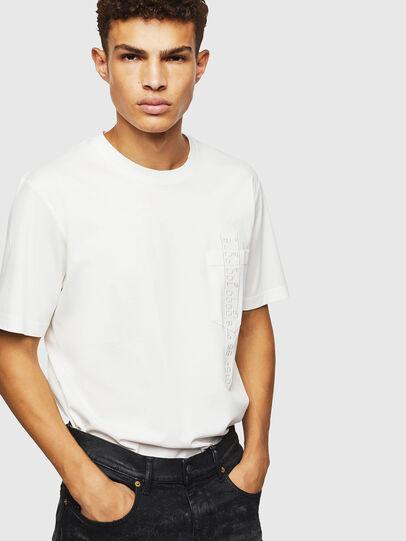 Diesel - T-JUST-POCKET-J1, Bianco - T-Shirts - Image 4