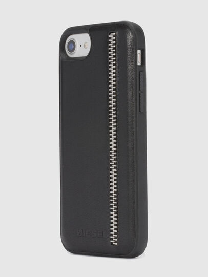 Diesel - ZIP BLACK LEATHER IPHONE 8 PLUS/7 PLUS/6s PLUS/6 PLUS CASE, Nero - Cover - Image 6