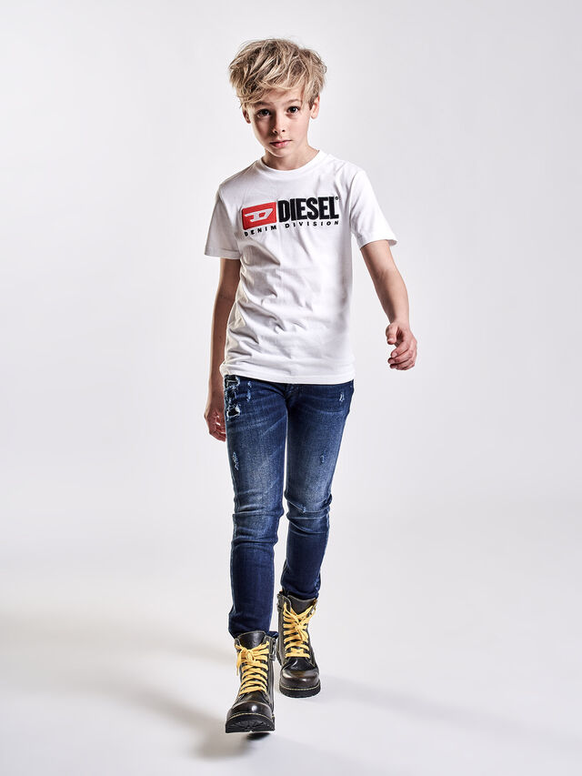 Diesel - TJUSTDIVISION, Bianco - T-shirts e Tops - Image 3
