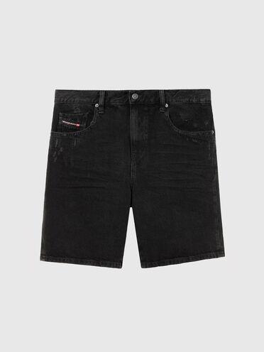 Shorts slim fit in denim stonewash
