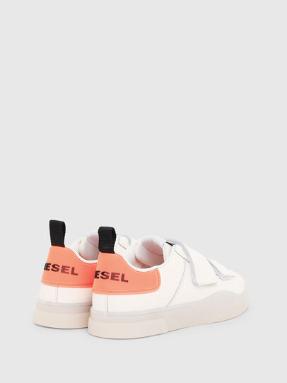 Diesel - S-CLEVER LOW STRAP W, Bianco/Rosa - Sneakers - Image 3