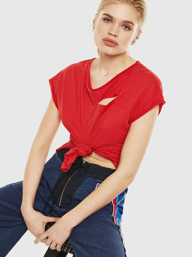 Diesel - T-DIMMY, Rosso Fuoco - Tops - Image 3