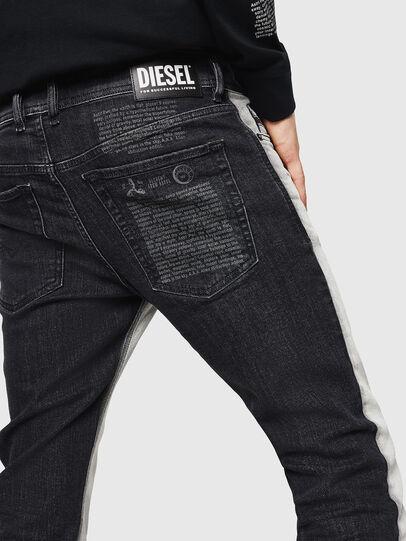 Diesel - Sleenker 082AX, Nero/Grigio scuro - Jeans - Image 5