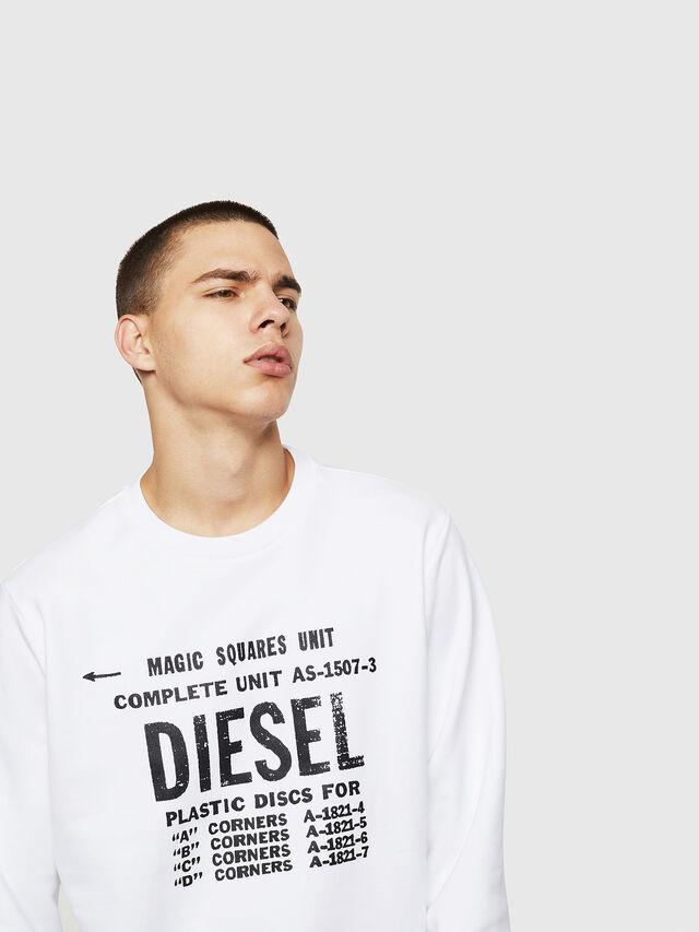 Diesel - S-GIR-B5, Bianco - Felpe - Image 3