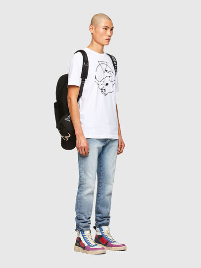 Diesel - CL-T-JUST-O, Bianco - T-Shirts - Image 7