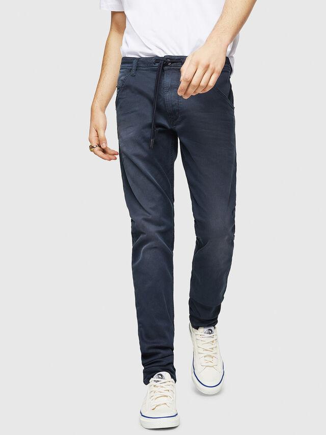 Diesel - Krooley Long JoggJeans 0670M, Blu Scuro - Jeans - Image 1