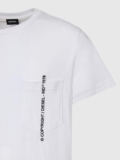 Diesel - T-RUBIN-POCKET-J1, Bianco - T-Shirts - Image 3