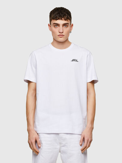 Diesel - T-JUST-E15, Bianco - T-Shirts - Image 1