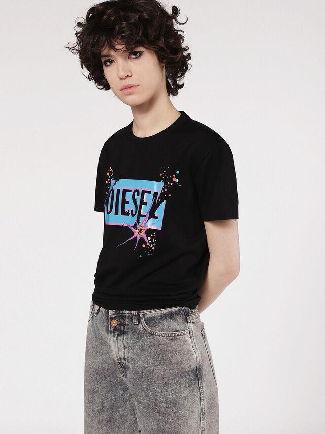 Diesel - T-EXPLO, Nero - T-Shirts - Image 1
