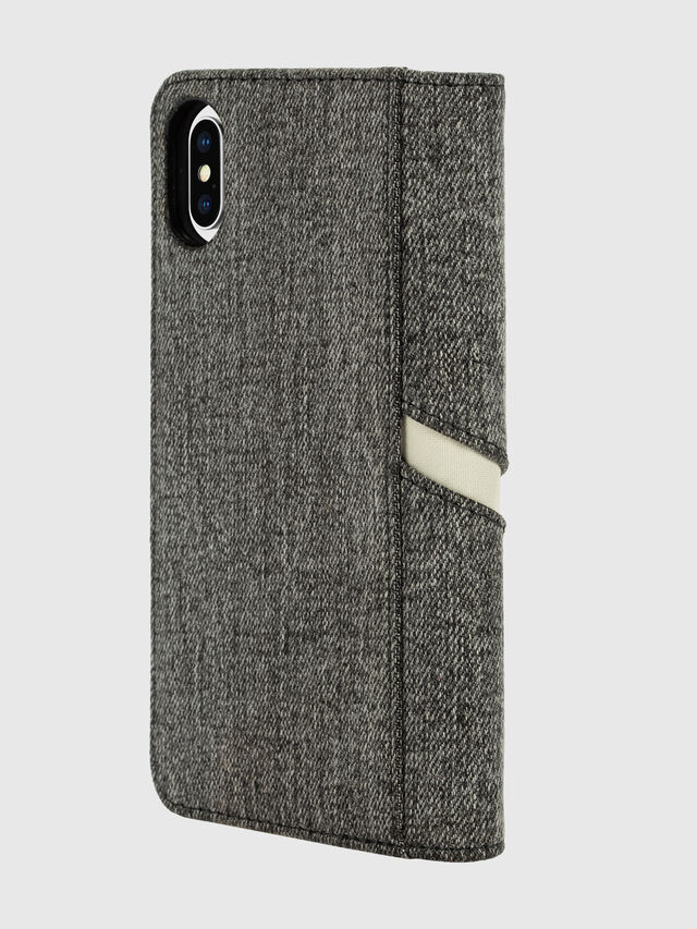 Diesel - DIESEL 2-IN-1 FOLIO CASE FOR IPHONE XS & IPHONE X, Grigio - Cover a libro - Image 4