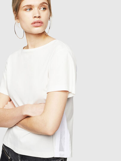 Diesel - T-RYLY, Bianco - T-Shirts - Image 4